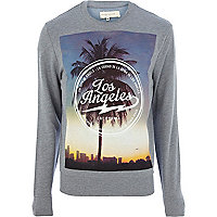 Blue Los Angeles photo print sweatshirt
