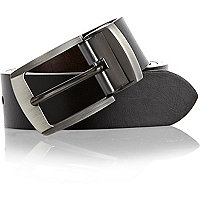 Black brushed metal smart belt