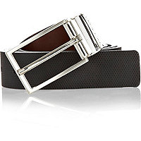 Grey reversible belt