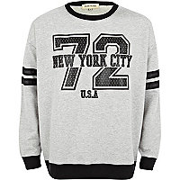 Grey NYC 72 print sweatshirt