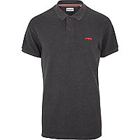 Dark grey Jack & Jones Vintage polo shirt