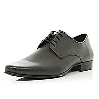 Dark grey formal lace up shoes