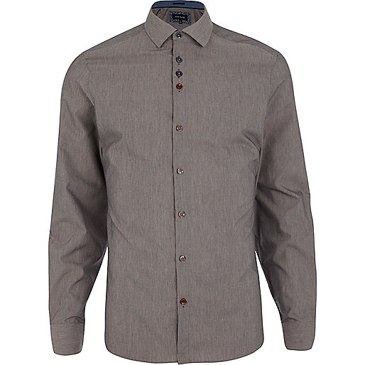 Charcoal grey long sleeve shirt