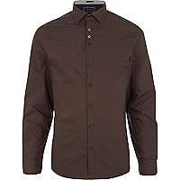 Brown long sleeve shirt