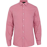 Pink long sleeve poplin shirt