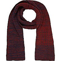 Dark red twist knit scarf