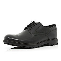 Black cleated sole formal shoes