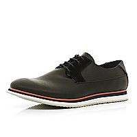 Black trainer sole lace up shoes