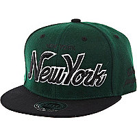Green New York trucker hat