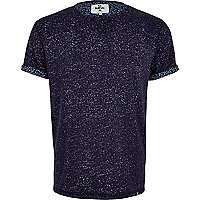 Navy blue Bellfield floral t-shirt