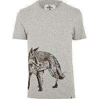 Grey Bellfield fox print t-shirt