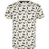 Stone Bellfield wildlife print t-shirt