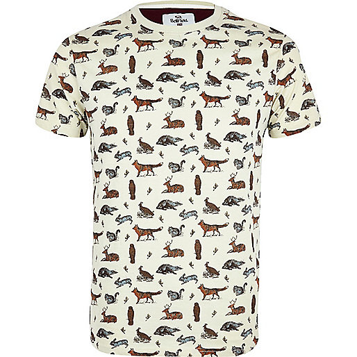 Stone Bellfield wildlife print t-shirt