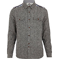 Grey Bellfield aztec shoulder shirt