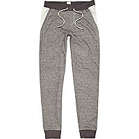 Grey Bellfield colour block joggers