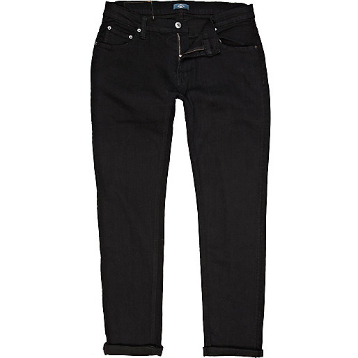 Black Bellfield carrot jeans