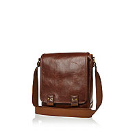 Brown mini messenger bag