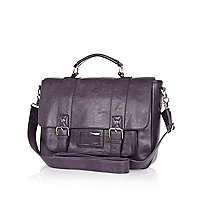 Plum purple satchel