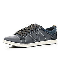 Navy contrast panel trainers