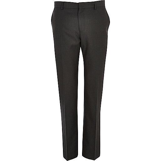 Charcoal grey slim smart trousers