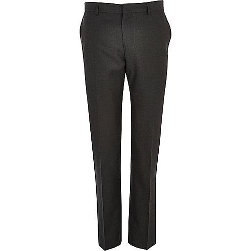 Charcoal grey slim smart trousers