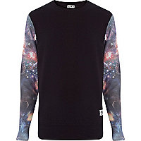 Blue Ones Supply Co. space sleeve sweatshirt