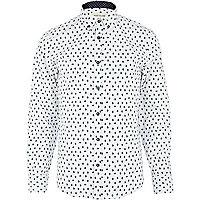 White paisley print shirt