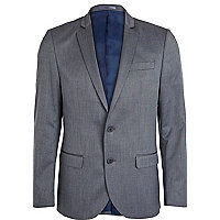 Light blue slim suit jacket