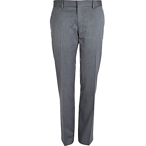 Light blue slim suit trousers