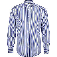 Light blue stripe long sleeve shirt
