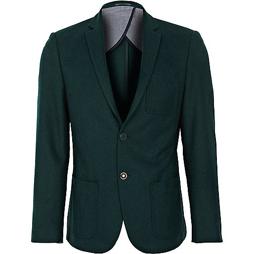 Dark green slim blazer