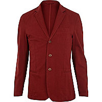 Rust red lightweight blazer