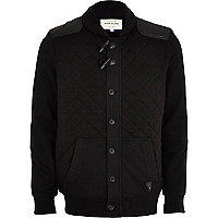 Black borg lined quilted jacket