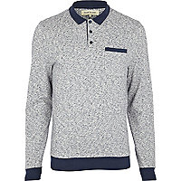 Navy sweatshirt polo