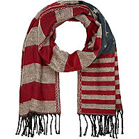 Navy stars and stripes scarf