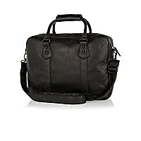 Black textured handle holdall