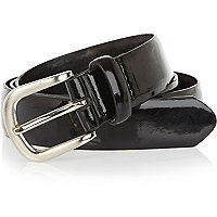 Black patent belt