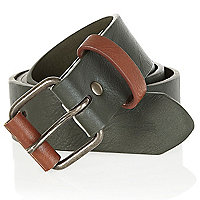 Green and tan belt