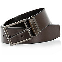 Dark brown reversible belt