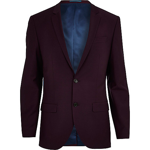 Plum slim suit jacket
