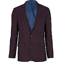 Purple skinny suit jacket