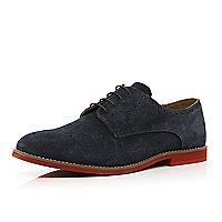 Navy blue semi brogues