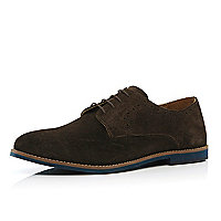 Brown semi brogues