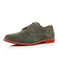 Grey semi brogues