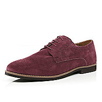 Dark red semi brogues