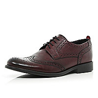 Dark red lace up brogues