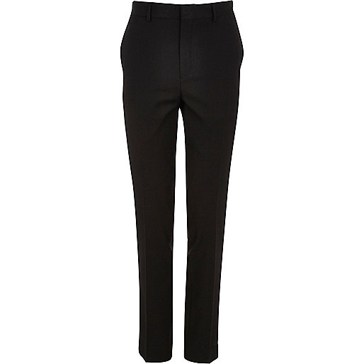 Black fan jacquard skinny smart trousers