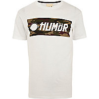 White Humor graphic print t-shirt