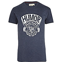 Blue Humor graphic print t-shirt
