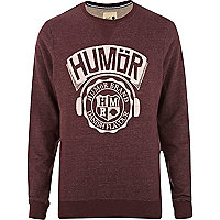 Dark red Humor logo sweatshirt